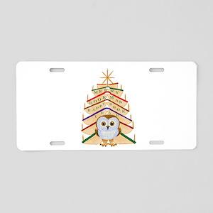 Merry Bookmas! Aluminum License Plate