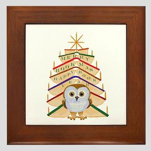 Merry Bookmas! Framed Tile