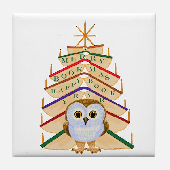 Merry Bookmas! Tile Coaster