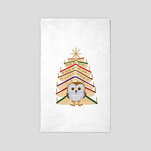 Merry Bookmas! 3'x5' Area Rug