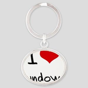 I love Sundown Oval Keychain