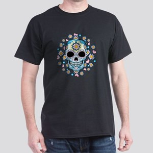 Colorful Sugar Skull Dark T-Shirt
