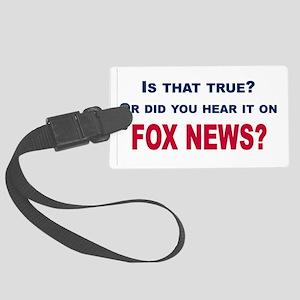 Fox News Large Luggage Tag