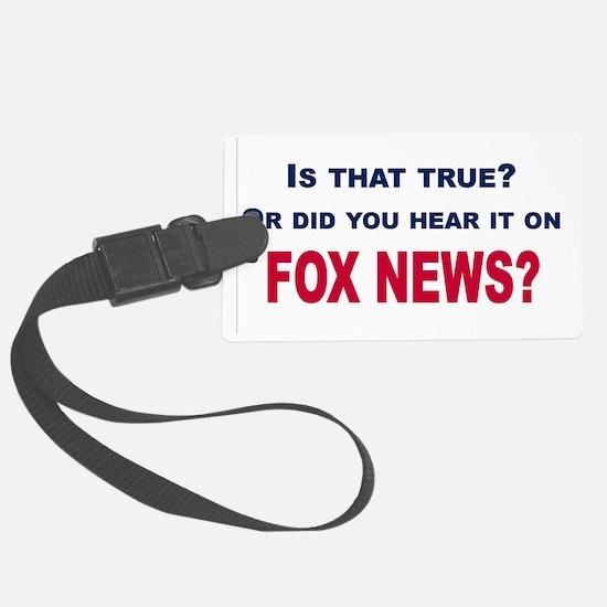 Fox News Luggage Tag