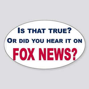 Fox News Sticker (Oval)