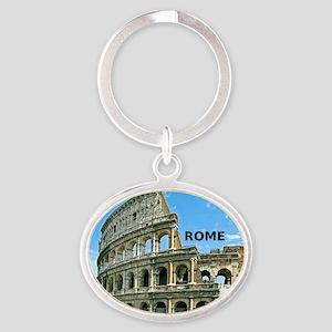 Rome_12x12_v2_Colosseum Oval Keychain