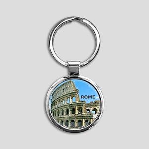 Rome_12x12_v2_Colosseum Round Keychain