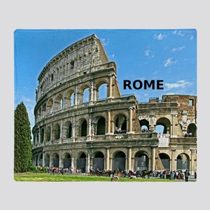 Rome_12x12_v2_Colosseum Throw Blanket