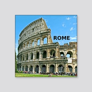 "Rome_12x12_v2_Colosseum Square Sticker 3"" x 3"""