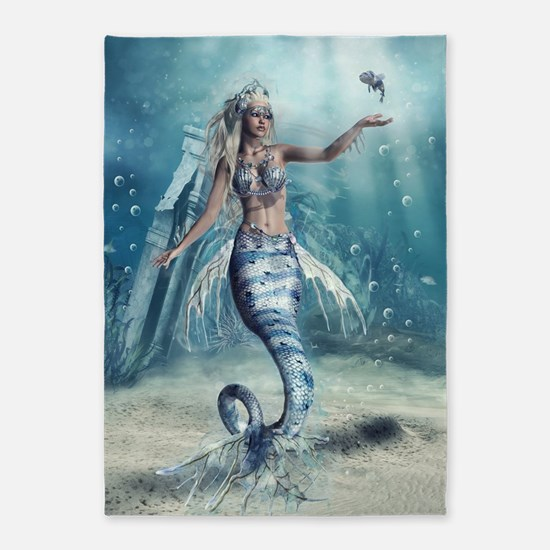 Fantasy Mermaid 5'x7'Area Rug