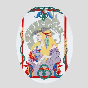 Dragon Heart Oval Ornament