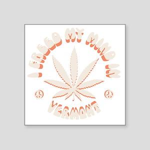 """weed-vermont-DKT Square Sticker 3"""" x 3"""""""