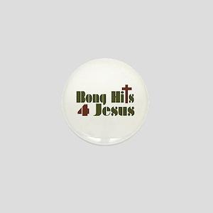 Bong Hits For Jesus Mini Button