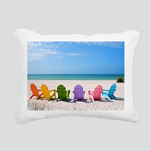 Summer Beach Rectangular Canvas Pillow