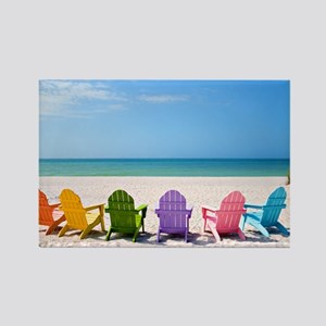 Summer Beach Rectangle Magnet