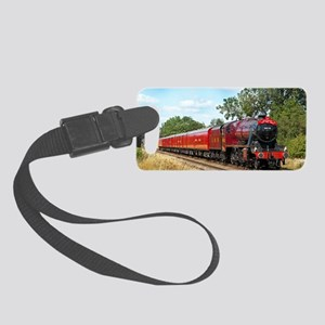 Vintage Steam Engine Small Luggage Tag