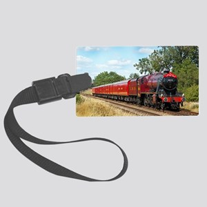 Vintage Steam Engine Large Luggage Tag