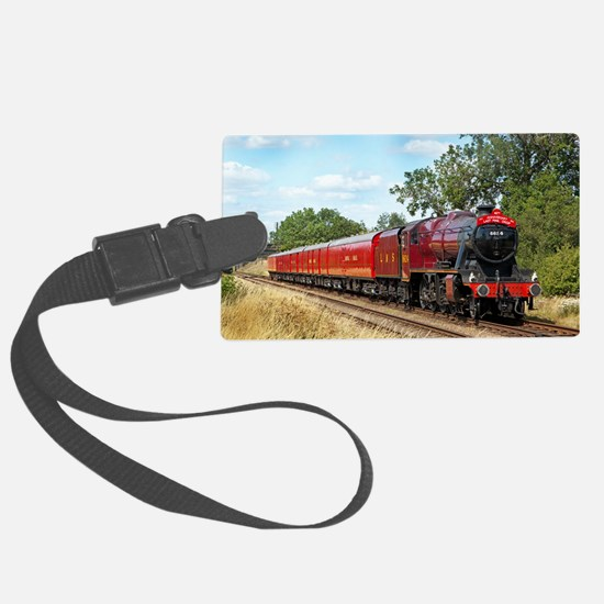 Vintage Steam Engine Luggage Tag