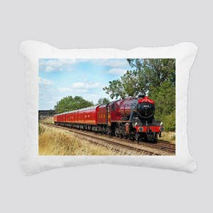 Vintage Steam Engine Rectangular Canvas Pillow