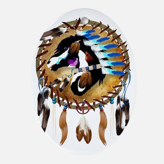 Spiritual Horse-Trans Oval Ornament