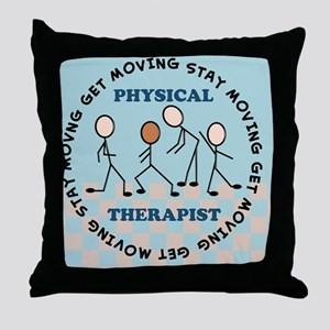 physical therapist pillow 2 Throw Pillow