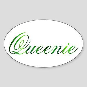 Queenie Design #1 Oval Sticker