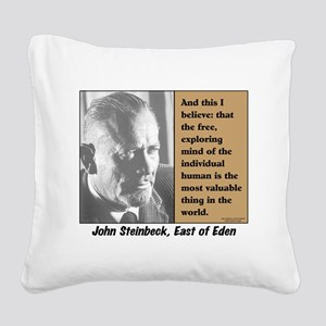 Steinbeck Square Canvas Pillow