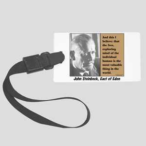 Steinbeck Luggage Tag