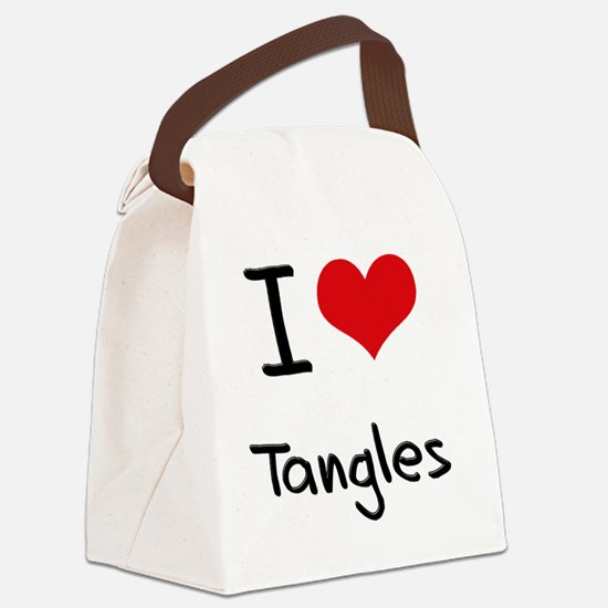 I love Tangles Canvas Lunch Bag