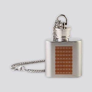 Ogee Links 3x5 white spice Flask Necklace