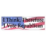 I Think Therefore I Vote Republican Sticker