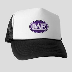 Phi Delta Epsilon Letters Trucker Hat