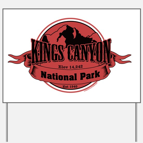 kings canyon 3 Yard Sign