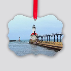 Michigan City Lighthouse Picture Ornament