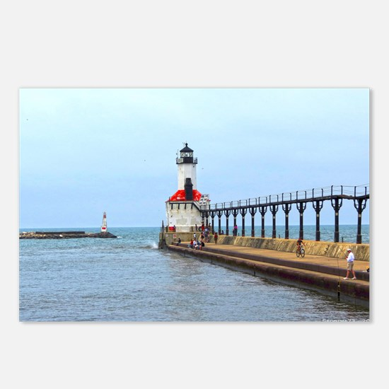 Michigan City Lighthouse Postcards (Package of 8)
