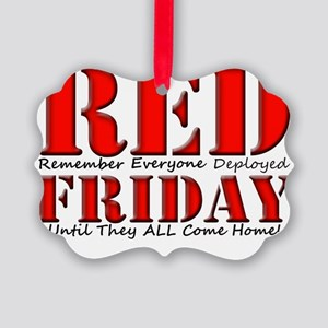 Remember Everyone Deployed Picture Ornament