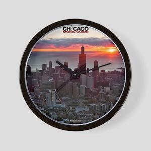 chicago music guide frameless  #2 Wall Clock