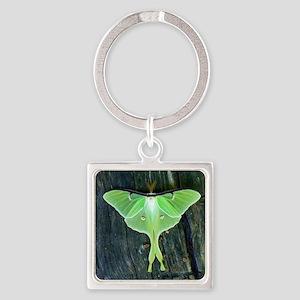 Luna Moth Square Keychain
