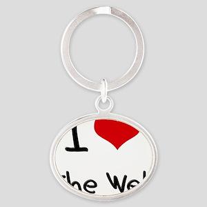 I love The Web Oval Keychain