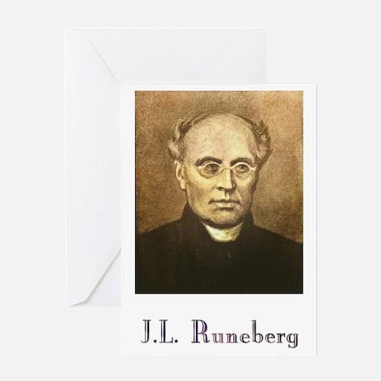J.L. Runeberg w text Greeting Card