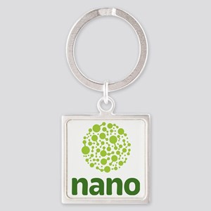 light green molecule stacked on da Square Keychain
