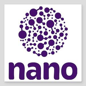 "purple nano Square Car Magnet 3"" x 3"""