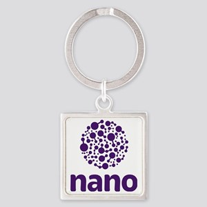 purple nano Square Keychain