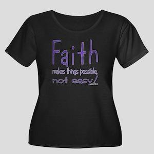 neg2_faith1 Plus Size T-Shirt