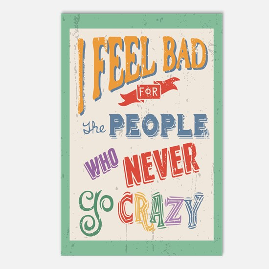 WHo Never Go Crazy Postcards (Package of 8)