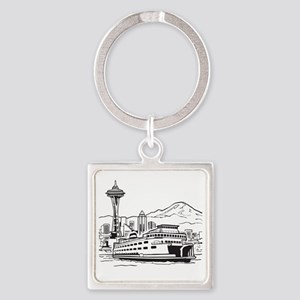 Space Needle and Ferry Square Keychain