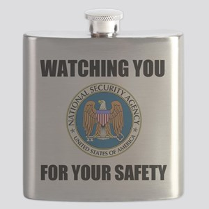 Watching You For Your Safety Flask