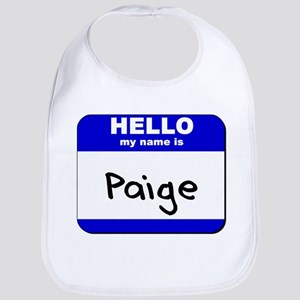 hello my name is paige  Bib