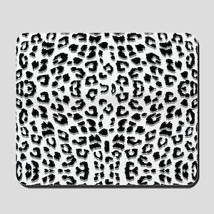 Snow Leopard Print Mousepad