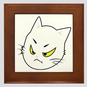 Kitty Cats Bad Moods Framed Tile